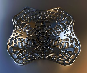 3ds max pendant e4f6l50 earring coulomb