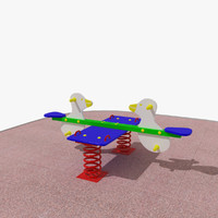 playground spring swing duck 3d 3ds