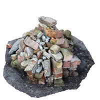 3d model pile bricks cityscape