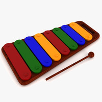 3d model of xylophone al toy