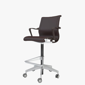 3ds max herman miller setu stool chair