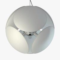 pendant lamp foscarini bubble 3d max