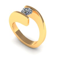 Round Love Band Engegement Ring