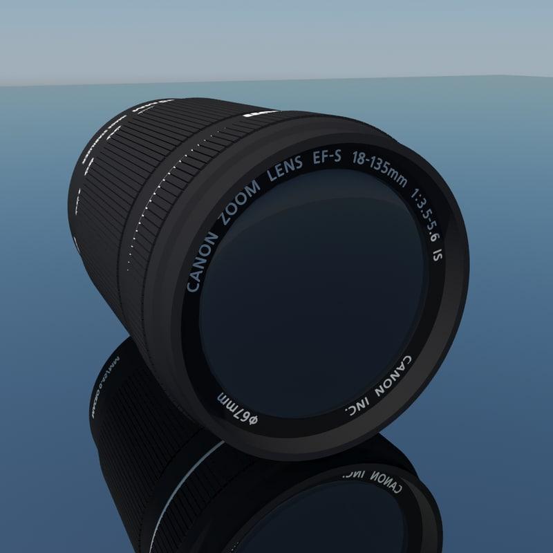 canon lens 18-135mm 3d model