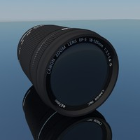 canon lens 18-135mm 3d model