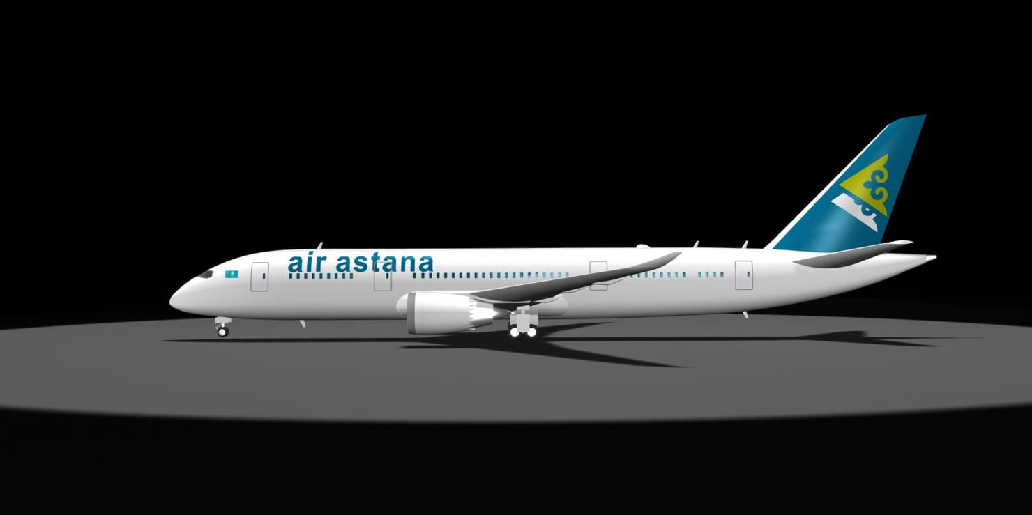 air astana dreamliner 787 3d max