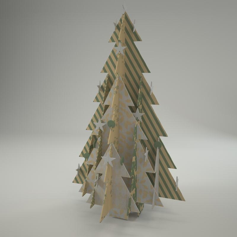 3d ecofriendly christmass tree model