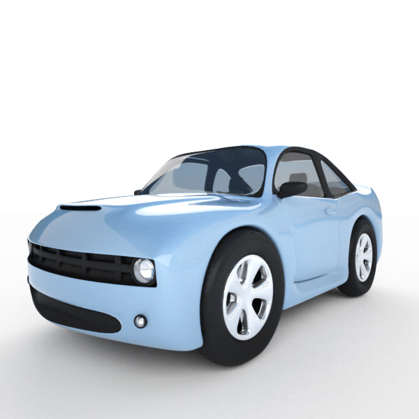 cartoon camaro 3d max