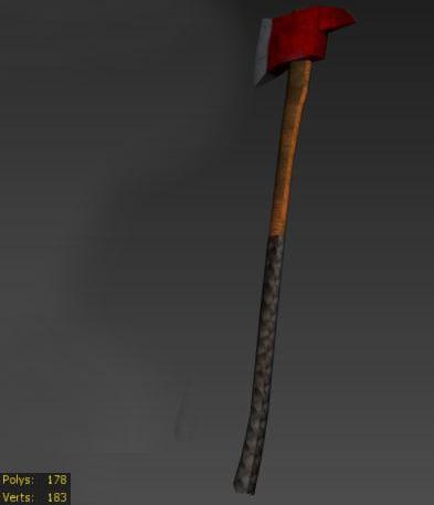 3d fireman s axe