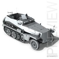 sd kfz 250 - 3d model