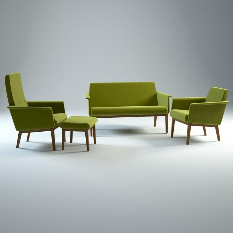 lazy swedese sofa armchair obj