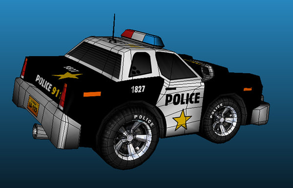 3d model cartoon police