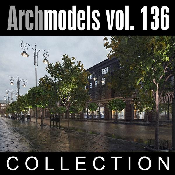 archmodels vol 136 trees 3d model