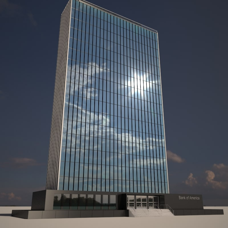 skyscraper bank 3d 3ds