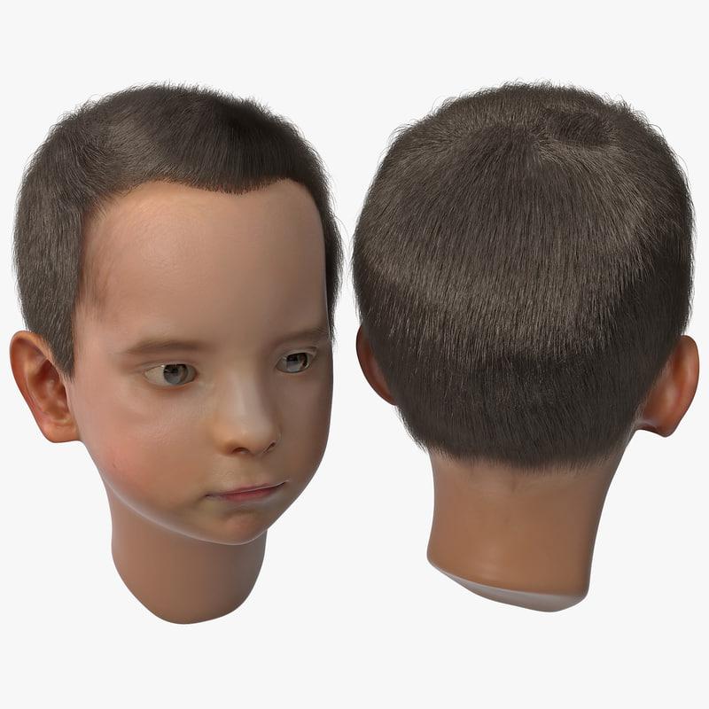 3d model of boy head version 2