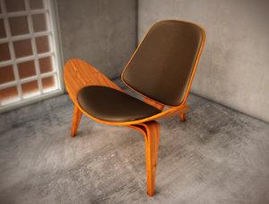 ch07 shell chair 3d max