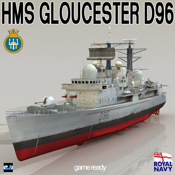 3d hms gloucester d96 type