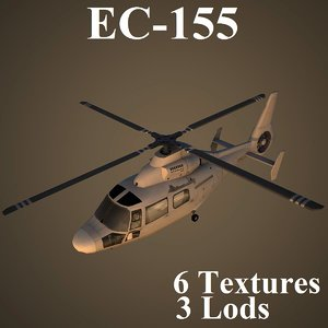 eurocopter low-poly helicopter max