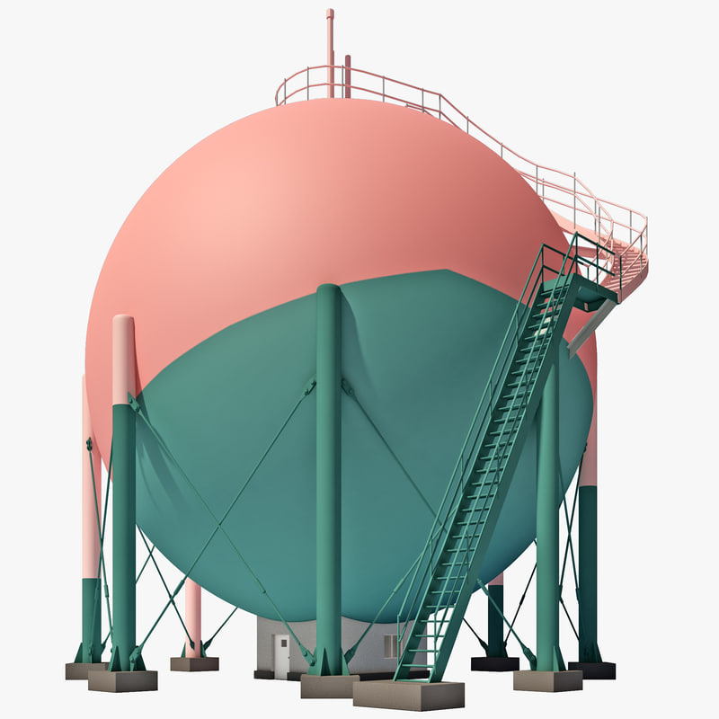 japan gas storage tank 3d lwo