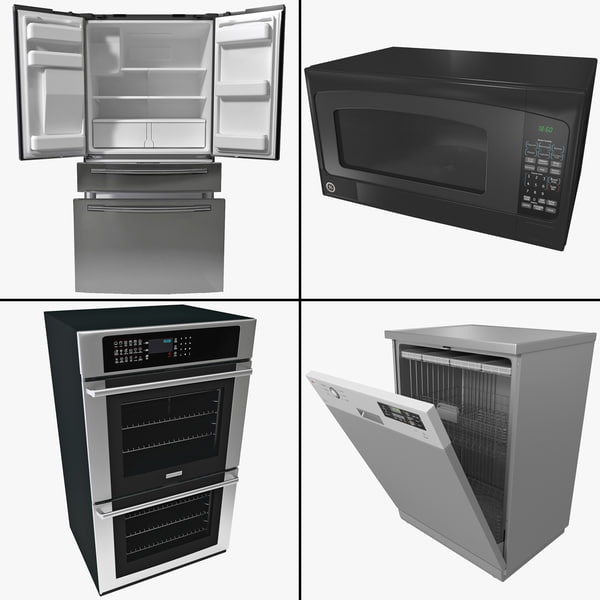 kitchen appliance 3d 3ds