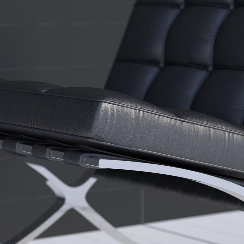 3d Model Of Chair Mies Van Der Rohe