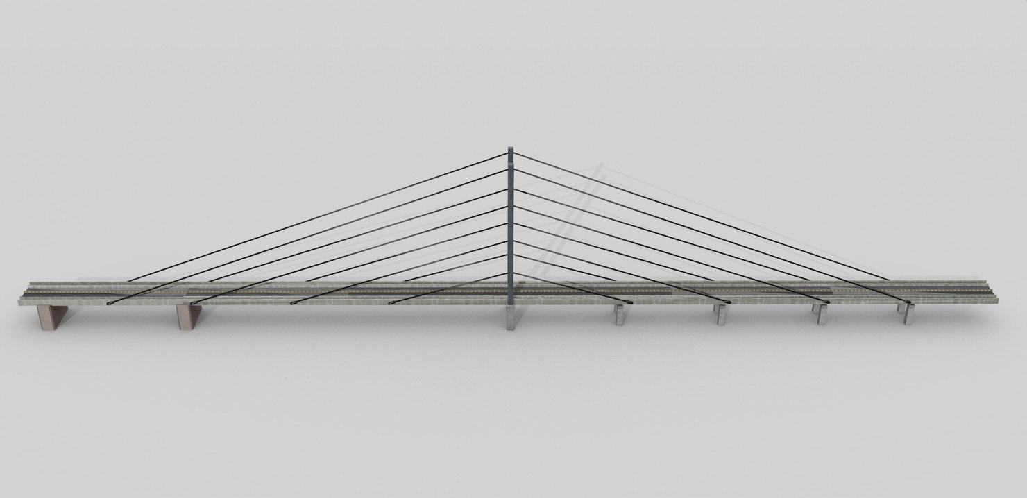 3ds bridge concrete road
