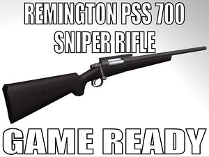 remington pss 700 sniper rifle 3d model