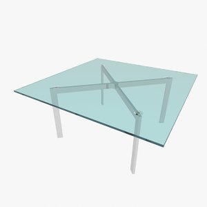 3ds max barcelona table