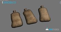 sand sandbag bag 3d model