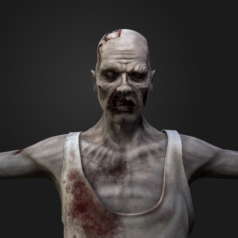 zombie character 3d max