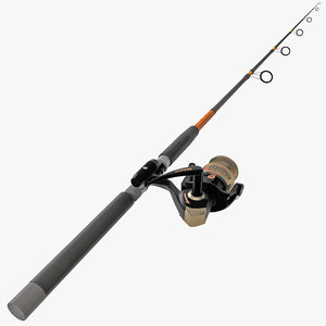 3d model fishing rod encore reel