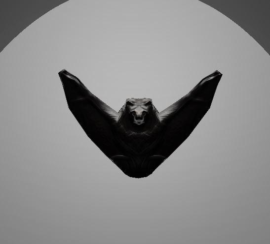 3d model of bat flying