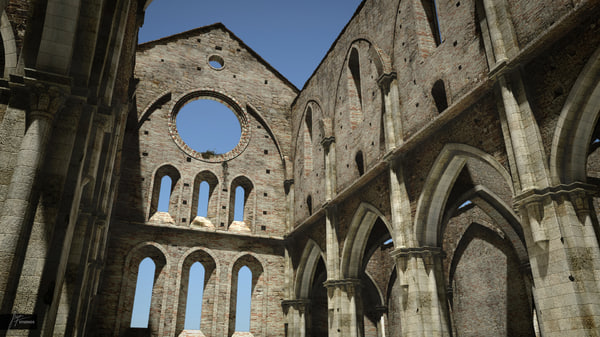 roofless san galgano 3d 3ds