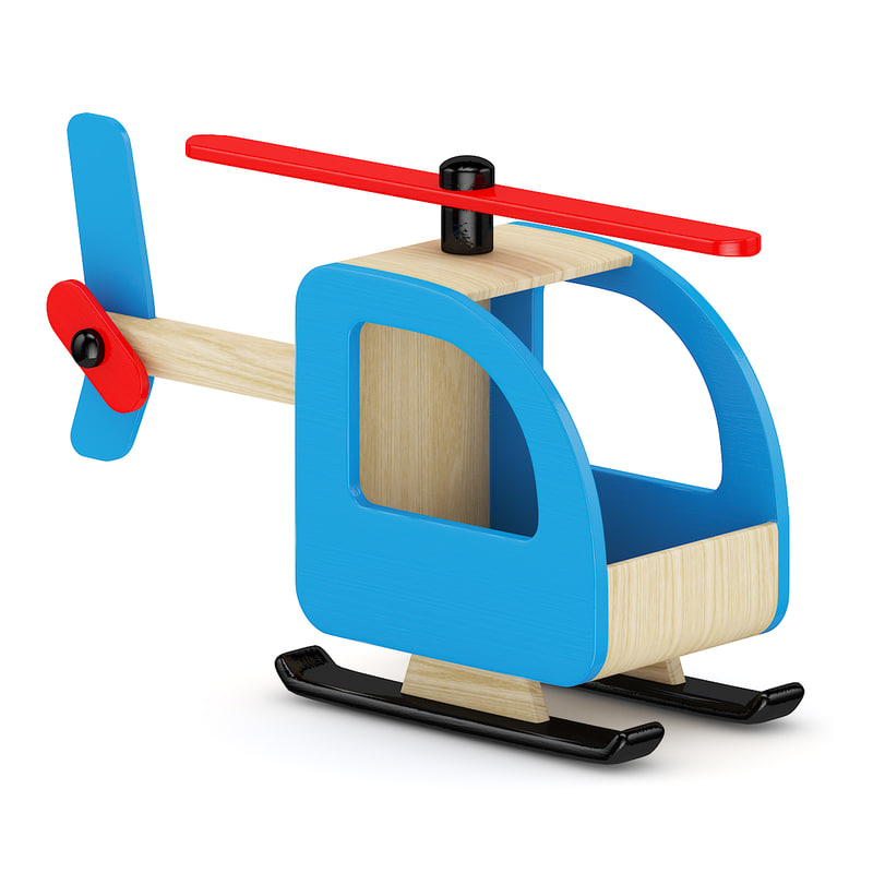3ds max wood wooden helicopter