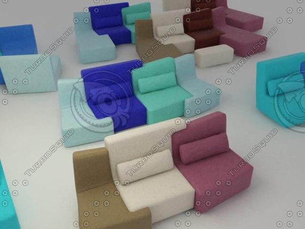 confluences sofa 3ds