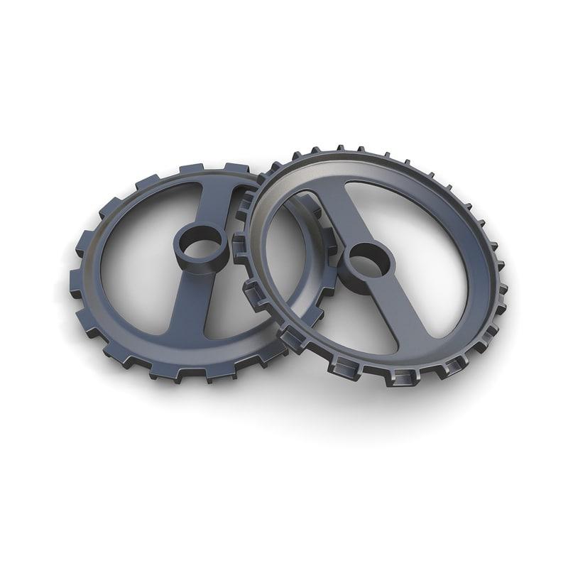 gear 03 industrial steam 3d fbx