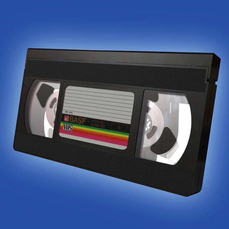 3d model vhs cassette tape