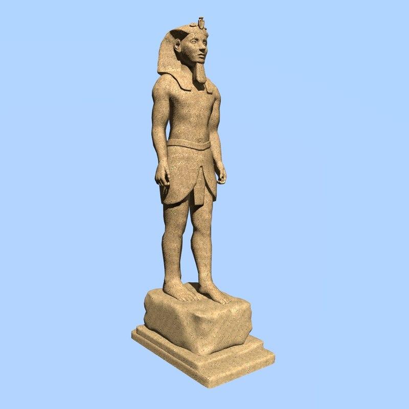 pharaoh sculpture 3d 3ds
