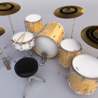 liberty drum set 3d ma