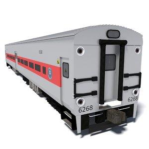 3d metro-north train wagon