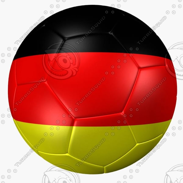 3ds max soccer ball germany flag