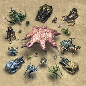 3d model mutant army rts
