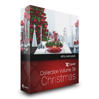 volume 39 christmas decoration 3d max