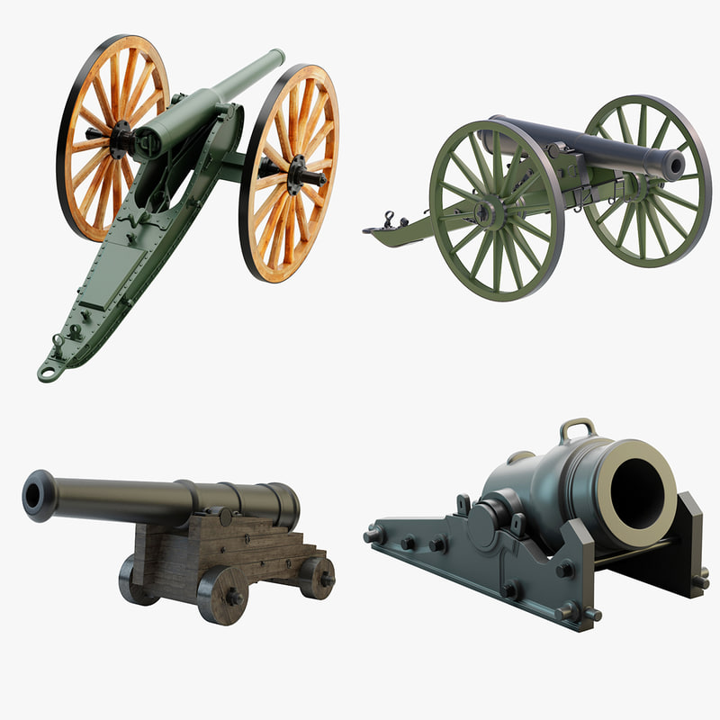 3d x 4 cannons set
