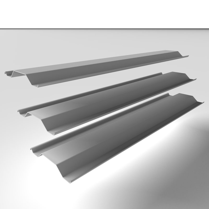 3d steel piles metal model