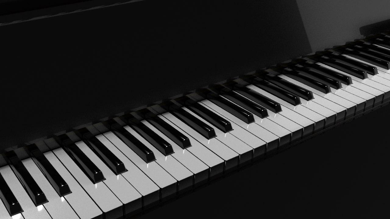 3d model realistic piano ready animate