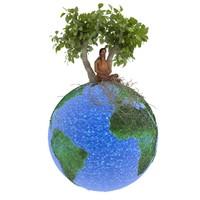 balance man trees 3d model