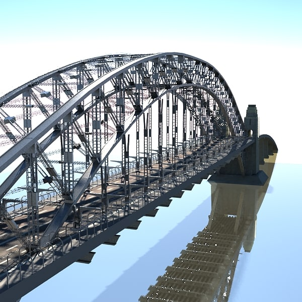 sydney harbour bridge 3d max