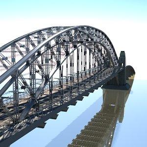 sydney harbour bridge 3d max