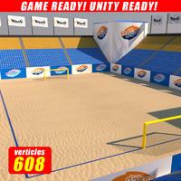 3d model beach soccer stadium